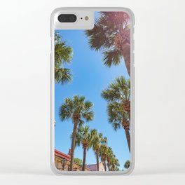 St Augustine Palm Trees Clear iPhone Case