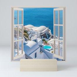 Santorini Greece | OPEN WINDOW ART Mini Art Print