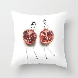 Edible Ensembles: Purple Pom Throw Pillow