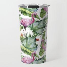 Flamingo Jungle #society6 #buyart Travel Mug