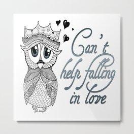 Flirtatious Owl Metal Print