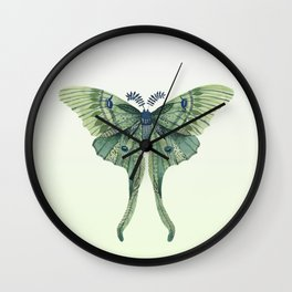 Green Luna Moth 3 Wall Clock