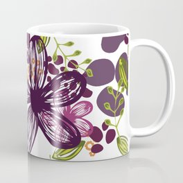 Floral (plum) Coffee Mug