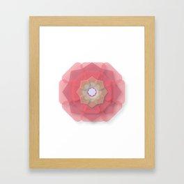 Pink Floral Meditation Framed Art Print