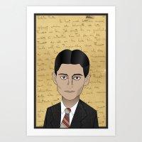 kafka Art Prints featuring Kafka by Pendientera