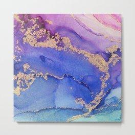 Dancing Mermaid - Abstract Ink - Part 1 Metal Print