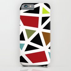 White lines & colors pattern #1 iPhone 6s Slim Case