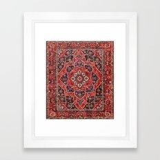 Boho oriental/ persian rug pattern  Framed Art Print