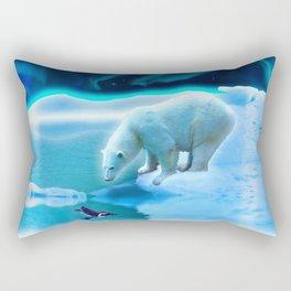 The Encounter - A Polar Bear & Penguin Fantasy Rectangular Pillow