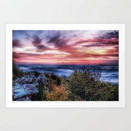 Stained Sunrise Art Print