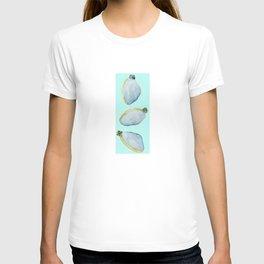 Three Clams Aqua T-shirt