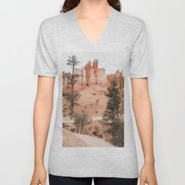 Landscape Of Bryce National Park, Utah Photo Art Print | Travel Photography Unisex V-Neck