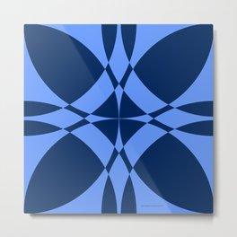 Abstract Circles - Sapphire Metal Print