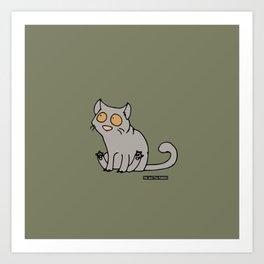Cat - Brittisk shorthair Art Print