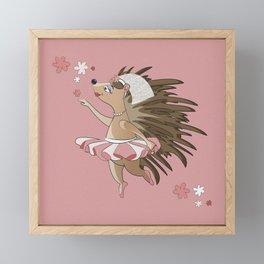 Dreamy Hedgehog Framed Mini Art Print