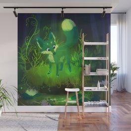 Green Fox Wall Mural