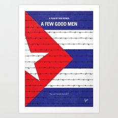 No417 My A Few Good Men minimal movie poster Art Print