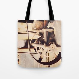 Industrial decor with vintage machine Tote Bag
