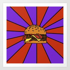 The Burger  Art Print