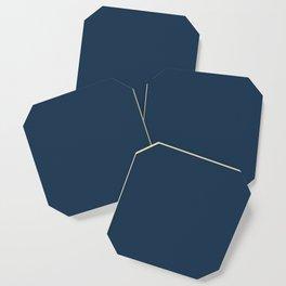 Pratt and Lambert 2019 Noir Dark Blue 24-16 Solid Color Coaster