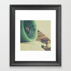 Skate or Die || Curb Stop Framed Art Print