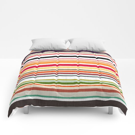apartment stripe Comforters