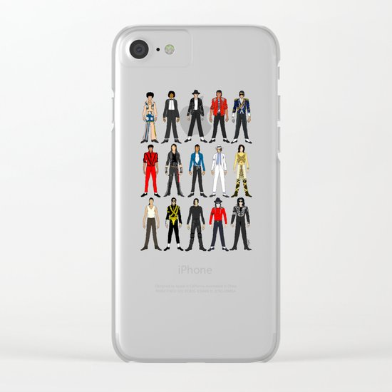 Outfits of King Pop Music Clear iPhone Case