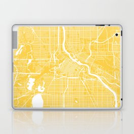 Minneapolis map yellow Laptop & iPad Skin