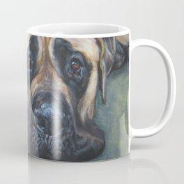 A realistic American Mastiff portrait by L.A.Shepard fine art painting Coffee Mug