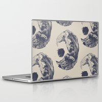 waves Laptop & iPad Skins featuring Swell by Huebucket