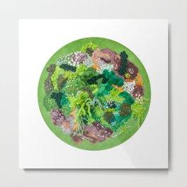 Moss Garden Metal Print