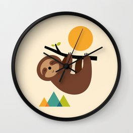 Keep Calm And Live Slow Wall Clock
