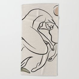 _melancholy and who holds it Beach Towel