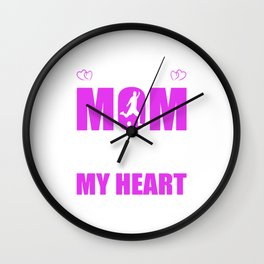 Soccer Moms Full Heart Mothers Day T-Shirt Wall Clock