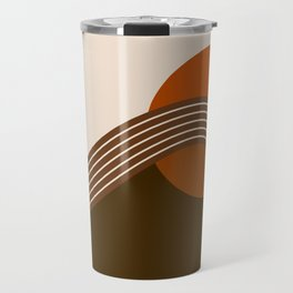 Cocoa Sundown Stripes Travel Mug
