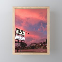 Cotton Candy Skies Framed Mini Art Print
