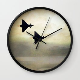 Euro Fighters Wall Clock