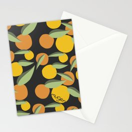 Too much mangoes! In black! Stationery Cards