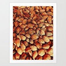 almond and star sky Art Print