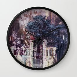 Shifts and Cracks (The Gates of Yesod) Wall Clock