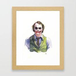Heath Ledger (The Joker) Framed Art Print