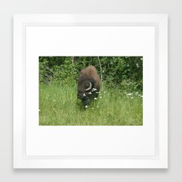 Take time out to smell the flowers! Framed Art Print