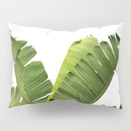Tropical Banana Plant Leaves Pillow Sham