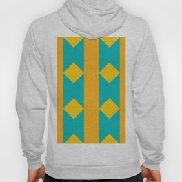 Pattern orange blue Hoody
