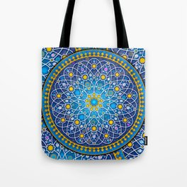 Blue geometry Tote Bag