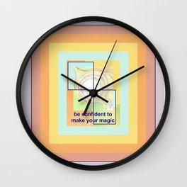 Confident Girl Creating Universal Magic Art Wall Clock
