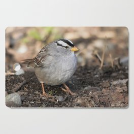 Profile of a White-Crowned Sparrow Cutting Board