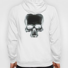 Black Skull on White Hoody