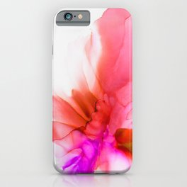 Alcohol Ink flower abstract iPhone Case