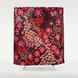 Fire Flowers Shower Curtain